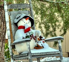 Christmas Country Snowman by Diana Graves Photography