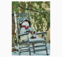 Christmas Country Snowman One Piece - Short Sleeve