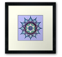 Mandala : Blooming Star Framed Print