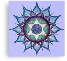 Mandala : Blooming Star Canvas Print
