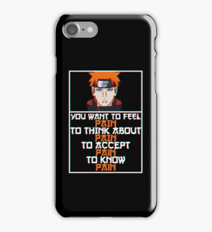 Pain quote v2 iPhone Case/Skin