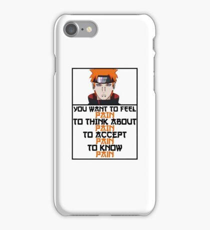 Pain quote iPhone Case/Skin