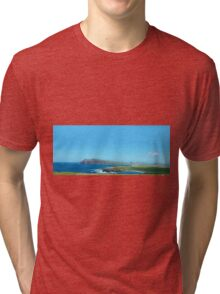 Ring of Kerry, Epic Scenic Irish Landscape and Seascape from county Kerry in Ireland. Along the wild atlantic way. Tri-blend T-Shirt
