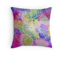 Mandala : Burst  Throw Pillow