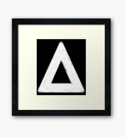 bastille triangle (white) Framed Print