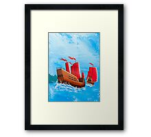 Chinese Ships Framed Print