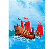 Chinese Ships Photographic Print