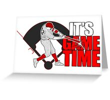 It's Game Time - Baseball (Red) Greeting Card