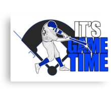 It's Game Time - Baseball (Blue) Canvas Print