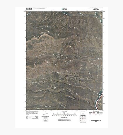 USGS TOPO Map Colorado CO Wagon Track Ridge 20100901 TM Photographic Print