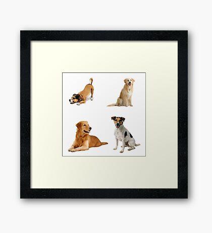 Dogs Pattern Bag Framed Print