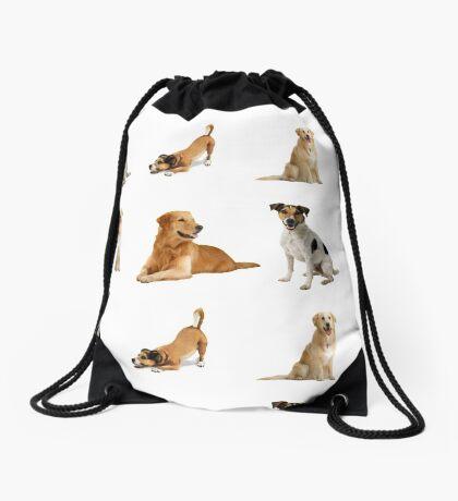 Dogs Pattern Bag Drawstring Bag