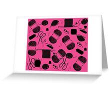 Yarn Pink Greeting Card
