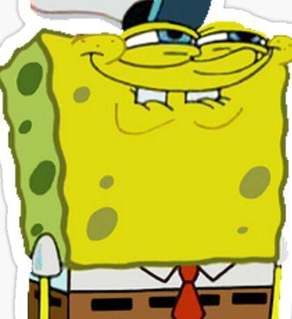 Spongebob meme sticker Sticker