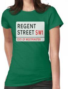 Regent Street London Street Sign Womens Fitted T-Shirt