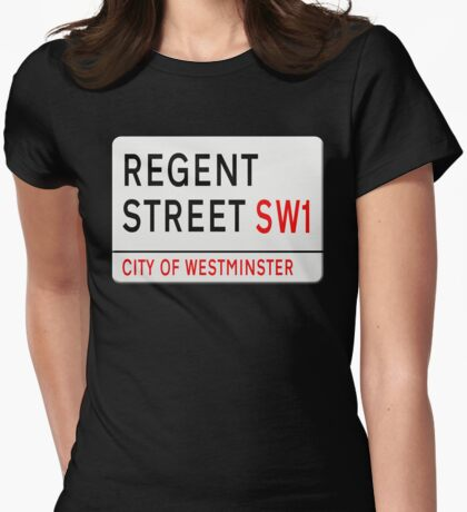 Regent Street London Street Sign Womens Fitted T-Shirt