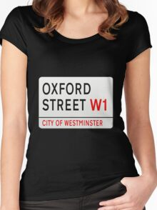 Oxford Street London Street Sign Women's Fitted Scoop T-Shirt