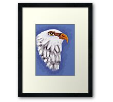 beautiful eagle on blue background Framed Print