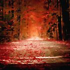 autumn dead fall pathway spiritual pagan gothic by druidwolfart
