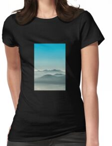 Layers of Blue fog Womens Fitted T-Shirt