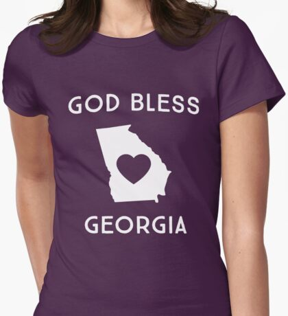 God bless Georgia Womens Fitted T-Shirt