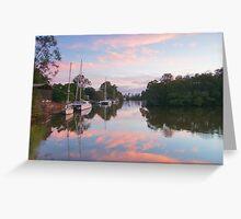 Pink sky sunset.  Greeting Card