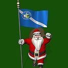 Santa Claus With Ensign Of Las Vegas by Mythos57