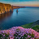 cliffs of moher sunset county clare ireland by Noel Moore Up The Banner Photography