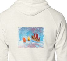 Chinese Ships on the South China Sea Zipped Hoodie