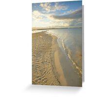 Sandbank. Pumicestone Passage.  Greeting Card