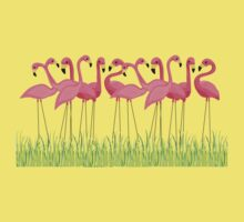 Pink Flamingos Illustration Kids Clothes