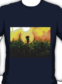 Dandelion Flower Sunset Sunrise T-Shirt