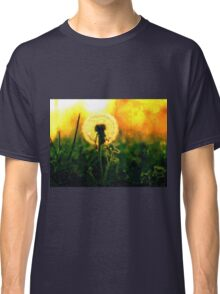 Dandelion Flower Sunset Sunrise Classic T-Shirt
