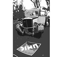 """Unique and rare 1980 Race Trucks France 1 (n&b) (h) """" fawn paint Picasso ! Olao-Olavia by Okaio Créations Photographic Print"""