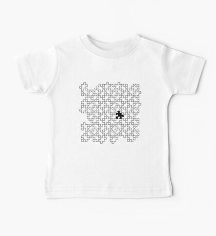 The Missing Piece - Abstract Jigsaw Puzzle Black and White Baby Tee