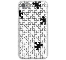 The Missing Piece - Abstract Jigsaw Puzzle Black and White iPhone Case/Skin