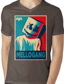 Marshmello Mellogang Mens V-Neck T-Shirt