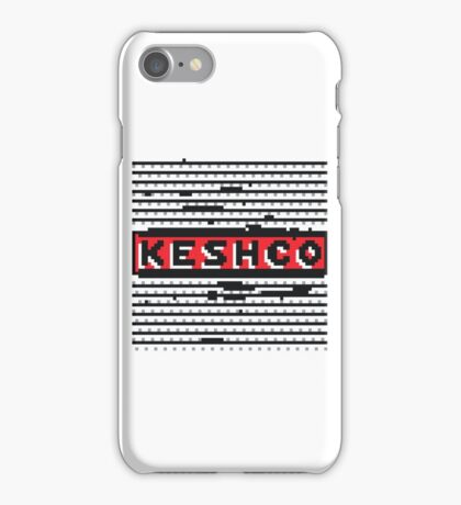 Keshco glitch logo iPhone Case/Skin