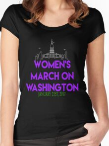Womens March On Washington January 21 2017 The  Resistance Million Woman March #NeverTrump #NotMyPresident Inauguration  Women's Fitted Scoop T-Shirt