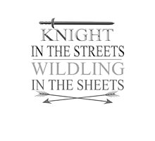 knight in the streets, wildling in the sheets Photographic Print