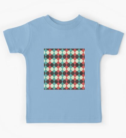 Modern,trendy,contemporary,retro,pattern,red,green,yellow,black,trellis,vintage,geomtric Kids Tee