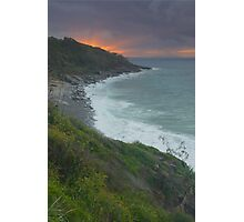 Sunset over Dolphin Point.  Noosa.  Photographic Print