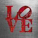 Love Word Art License Plates Red by designturnpike