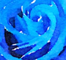 Blue Rose Watercolor Sticker