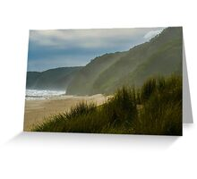 The End of the Beach. Greeting Card