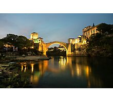 Stari Most by night  Photographic Print
