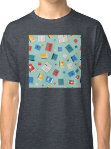 Books Seamless Pattern. Different Colorful Books. Vector illustration in flat style Classic T-Shirt