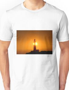 Pigeon Point Lighthouse in a Sunset Unisex T-Shirt
