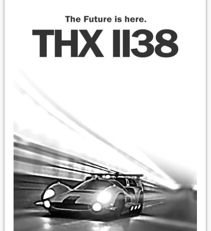 THX-1138 Movie Art Sticker