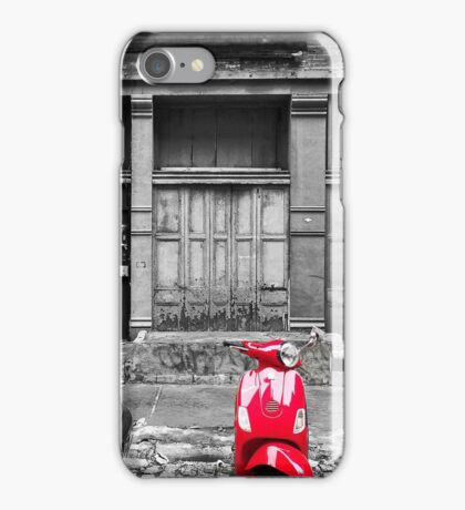 Red Vespa iPhone Case/Skin